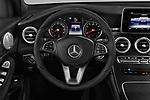 Car pictures of steering wheel view of a 2018 Mercedes Benz GLC-Class 300 5 Door SUV
