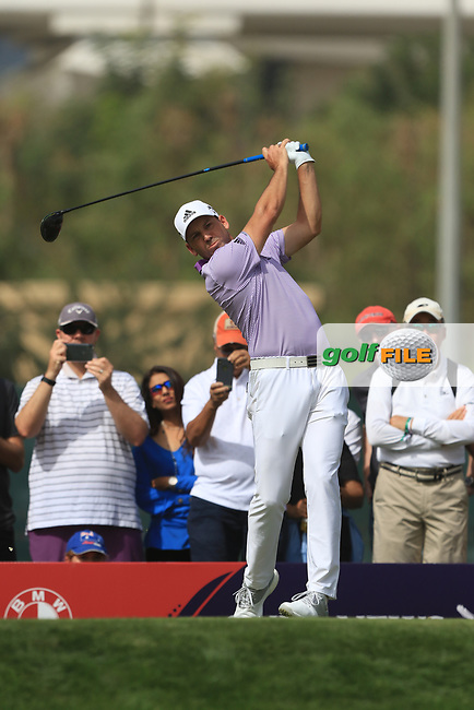 Sergio Garcia (ESP) on the 3rd tee during Round 2 of the Omega Dubai Desert Classic, Emirates Golf Club, Dubai,  United Arab Emirates. 25/01/2019<br /> Picture: Golffile | Thos Caffrey<br /> <br /> <br /> All photo usage must carry mandatory copyright credit (&copy; Golffile | Thos Caffrey)