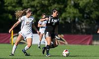 Newton, Massachusetts - September 14, 2016: NCAA Division I. Boston College (white) defeated LIU-Brooklyn (black), 2-0, at Newton Campus Soccer Field.