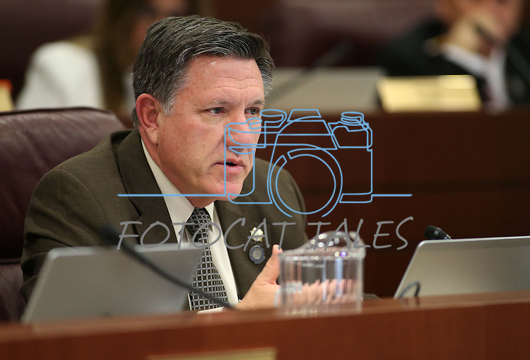 Nevada Assemblyman PK O'Neill, R-Carson City, works in committee at the Legislative Building in Carson City, Nev., on Monday, May 4, 2015.<br /> Photo by Cathleen Allison