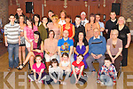 Karl Dickinson, Ballydribben, Killarney, pictured with some of his family and friends as he celebrated his 30th birthday in Darby O'Gills hotel, Killarney on Saturday night.