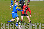 St Brendan's Park's David Fitzmaurice and Killarney Athletic's Mike Potts...