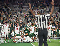 NWA Democrat-Gazette/BEN GOFF @NWABENGOFF<br /> Fans react after Izzy Matthews, Colorado State running back, scored a touchdown in the 4th quarter vs Arkansas Saturday, Sept. 8, 2018, at Canvas Stadium in Fort Collins, Colo.