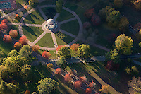 Aerial view, Parkman bandstand, Boston Common, Boston, MA