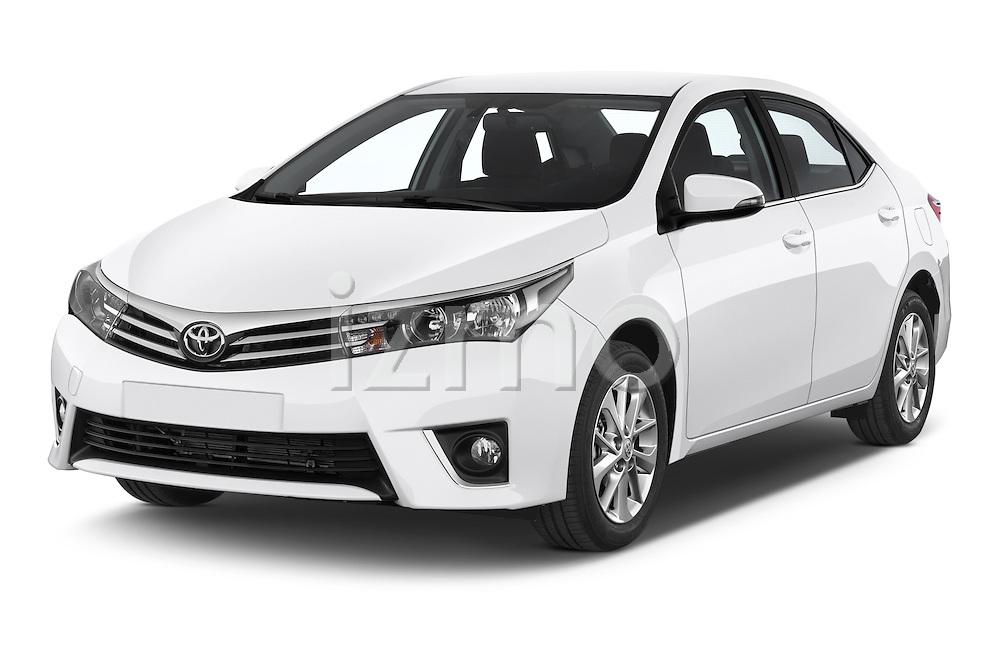2014 Toyota Corolla Comfort 4 Door Sedan 2WD Angular Front stock photos of front three quarter view