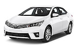 2014 Toyota Corolla Comfort 4 Door Sedan 2WD Angular Front stock photos of front three quarter view
