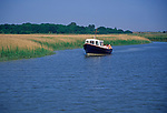 AT5BR2 Boat trip River Alde Snape Suffolk England