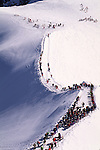 Skiers on Mount Blanc