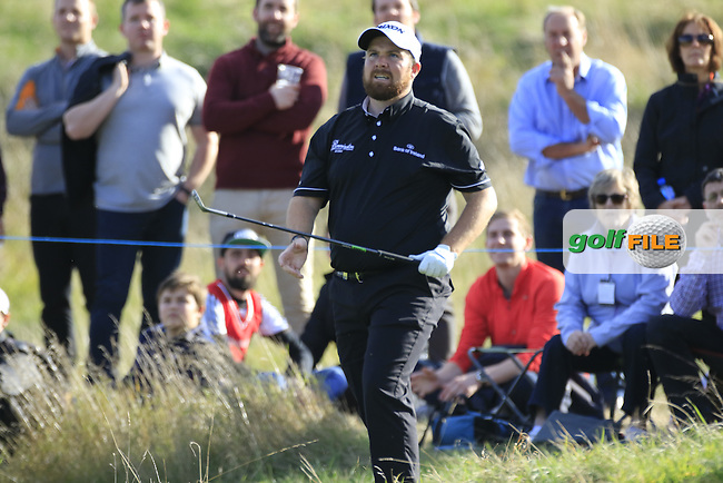 Shane Lowry (IRL) in action during round 3 of the British Masters played at The Grove, Chandler's Cross, Hertfordshire, England.  15/10/2016<br /> Picture: Golffile | Phil Inglis<br /> <br /> <br /> All photo usage must carry mandatory copyright credit (&copy; Golffile | Phil Inglis)