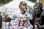 Orange, CA 05/17/14 - Logan Quinn (Arizona State #17) and Griffin Bohm (Colorado #16) in action during the 2014 MCLA Division I Men's Lacrosse Championship game between Arizona State and Colorado at Chapman University in Orange, California.  Colorado defeated Arizona State 13-12.