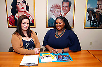 LOS ANGELES - MARCH 28: Jennifer Louisell, Kai Carter at General Counseling - client photo shoot at the Actors Fund on March 28, 2019 in Los Angeles, California