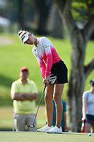 SINGAPORE - MARCH 02: Nelly Korda of USA on the 1st green during the third round of the HSBC Women's World Championship 2019 at Sentosa Golf Club - Tanjong Course, Singapore on March 02, 2019.<br /> .<br /> .<br /> .<br /> (Photo by: Naratip Golf Srisupab/SEALs Sports Images)<br /> .<br /> Any image use must include a mandatory credit line adjacent to the content which should read: Naratip Golf Srisupab/SEALs Sports Images