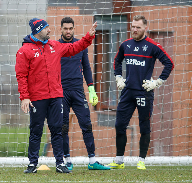 New goalkeeping coach Jose Belman with Wes Foderingham and Jak Alnwick