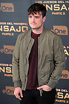 """Actor Josh Hutcherson during the presentation of film """"The Hunger Games: Sinsajo Part 2"""" in Madrid, Novermber 10, 2015.<br /> (ALTERPHOTOS/BorjaB.Hojas)"""