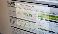 """The website of the BATS Global Markets stock trading website, seen on Monday, March 26, 2012, offers a mea culpa for the problems that arose from a """"software bug"""" in their system last Friday. A problem manifested itself in the trading of the company's own IPO which prevented orders of its own stock from being fulfilled generating sell orders which drove the price of their shares down to less than a penny. Trading was suspended and orders cancelled. (© Richard B. Levine)"""