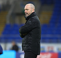 4th February 2020; Cardiff City Stadium, Cardiff, Glamorgan, Wales; English FA Cup Football, Cardiff City versus Reading; Mark Bowen, Manager of Reading watches the play