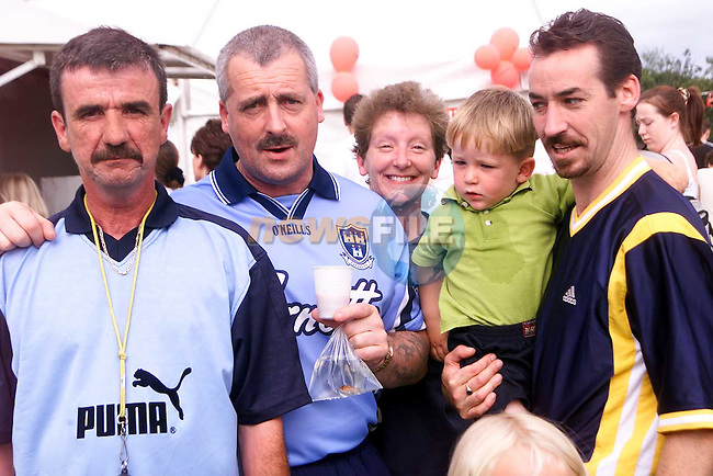 Peter Shevlin, Alex Parsons, Maureen Shevlin, Reece mcEvoy and Raymond McEvoy at the Moneymore Sports Day..Picture Paul Mohan Newsfile