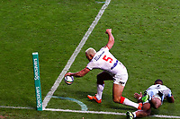 Picture by Alex Whitehead/SWpix.com - 09/11/2013 - Rugby League - Rugby League World Cup - England v Fiji - KC Stadium, Hull, England - England's Ryan Hall scores a try. Rugby League World Cup 2013 re edited 11/10/2017 Best Of