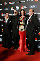 Spanish designer Francis Montesinos, singer Miguel Bose and model Paola Dominguin during Barcelona 5th AIDS Ceremony. November 24,2014.(ALTERPHOTOS/Acero) /NortePhoto<br />
