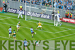 Declan O'Sullivan Kerry v Kevin McManamon scores a goal for Dublin in the All Ireland Senior Football Final 2011 in Croke Park on Sunday 18th September 2011.