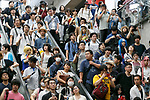 Anime fans and cosplayers attend the first day of Comic Market 92 (Comiket) event at Tokyo Big Sight on August 11, 2017, Tokyo, Japan. The annual event that began in 1975 focuses on manga, anime, game and cosplay. Organizers expect more than 500,000 visitors to attend the 3-day event. (Photo by Rodrigo Reyes Marin/AFLO)