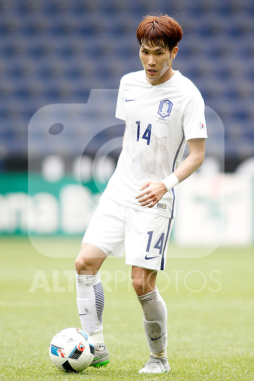 South Korea's Kookyoung Han during friendly match. June 1,2016.(ALTERPHOTOS/Acero)