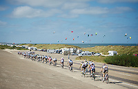 peloton nearing the beach<br /> <br /> 2nd World Ports Classic 2013<br /> stage 2: Rotterdam  (NLD) - Antwerpen (BEL)<br /> 191km