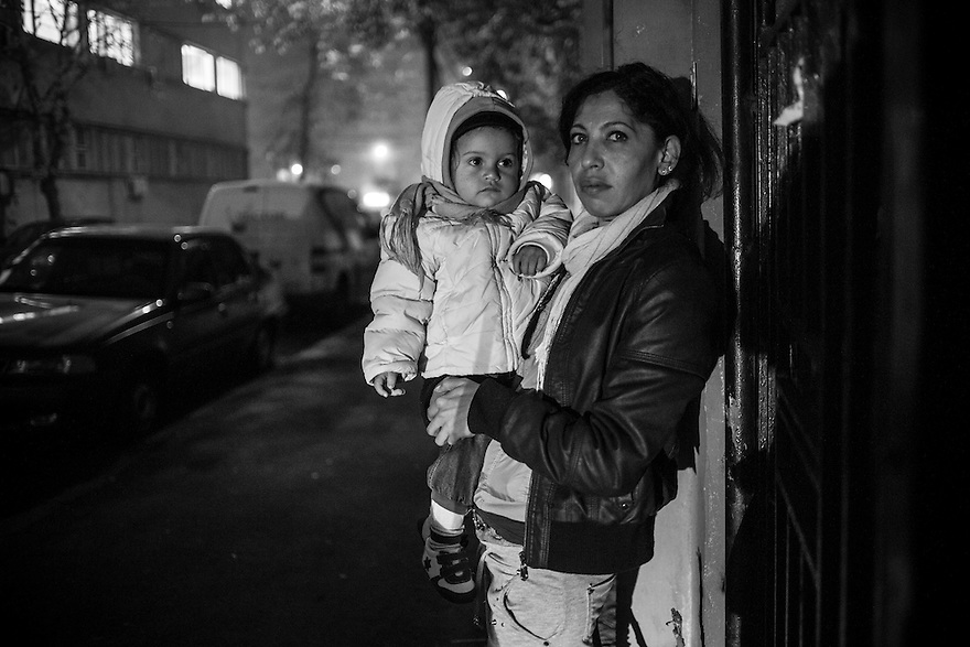 Dana, left, with her 2 year old daughter at Parada, a drop in center for homeless and disadvantaged youth. Like many of her generation, Dana was abandoned as a child, raised in an orphanage and become a mother in her late teens. After her drug-addicted husband died and she was left homeless, her two elder children were moved to foster care. She currently cares for her 1.5 year old daughter and lives in a rented room in a poor area of the city.