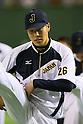Yuji Nishino (JPN), <br /> NOVEMBER 14, 2014 - Baseball : <br /> 2014 All Star Series Game 2 <br /> between Japan and MLB All Stars <br /> at Tokyo Dome in Tokyo, Japan. <br /> (Photo by YUTAKA/AFLO SPORT)[1040]