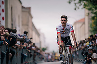 Jasper Stuyven (BEL/Trek-Segafredo) at the Team presentation in La Roche-sur-Yon<br /> <br /> Le Grand D&eacute;part 2018<br /> 105th Tour de France 2018<br /> &copy;kramon