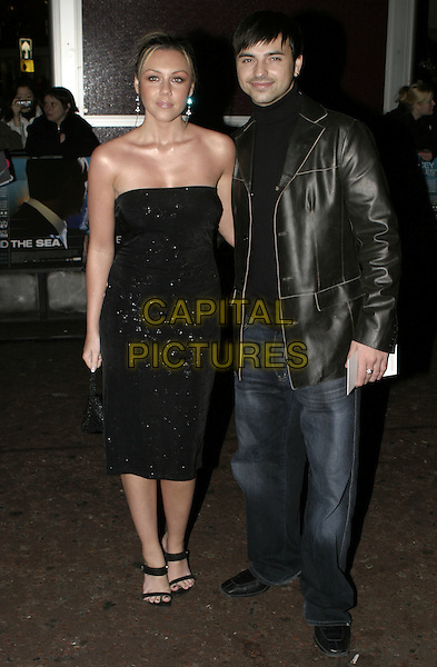 "MICHELLE HEATON & ANDY SCOTT LEE.""Beyond the Sea"" UK Premiere, .Vue Cinema, Leicester Square, .London, 25 November 2004..full length strapless black dress boyfriend girlfriend couple.Ref: AH.www.capitalpictures.com.sales@capitalpictures.com.©Capital Pictures."