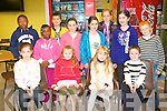 PROBLEM SOLVERS: Solving the problems at the Family Math's Fun night at Tralee IT south campus as part of the National Math's week on Thursday front l-r: Cara Segal, Eimear Murphy, Sarah Davern and Gavin Doody. Back l-r: David and Dorcas Oyewand, Darragh Clark, Sarah and Aiveen Gavaghan, Aoife O'Carroll, Aisling Clark and Diarmuid Murphy.