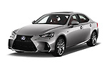 2017 Lexus IS F-Sport-Line 4 Door Sedan Angular Front stock photos of front three quarter view