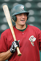 May 27, 2008: Catcher Tony Maccani (8) of the Savannah Sand Gnats, Class A affiliate of the New York Mets, prior to a game against the Greenville Drive at Fluor Field at the West End in Greenville, S.C. Photo by:  Tom Priddy/Four Seam Images