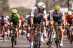 Giacomo Nizzolo (ITA) Team Dimension Data wins Stage 6 of the 10th Tour of Oman 2019, running 135.5km from Al Mouj Muscat to Matrah Corniche, Oman. 21st February 2019.<br /> Picture: ASO/K&aring;re Dehlie Thorstad | Cyclefile<br /> All photos usage must carry mandatory copyright credit (&copy; Cyclefile | ASO/K&aring;re Dehlie Thorstad)