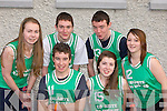 The Caherdaniel basketball team that competed at the KDYS County Games day in Killarney on Sunday front row l-r: Michael Galvin, Sonia O'Donoghue. Back row: Noelle Galvin, Shane O'Sullivan, Kevin O'Sullivan and Amy Turner