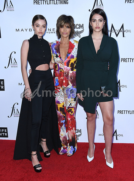 08 April 2018 - Beverly Hills, California - Delilah Belle Hamlin, Lisa Rinna, Amelia Gray Hamlin. The Daily Front Row's 4th Annual Fashion Los Angeles Awards held at The Beverly Hills Hotel. Photo Credit: Birdie Thompson/AdMedia