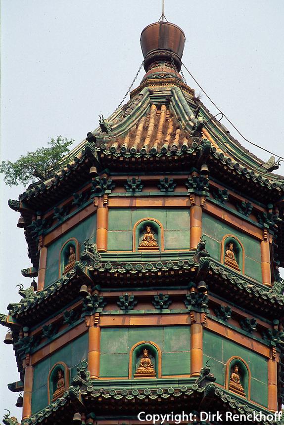 China, Peking, Xiang Shan-Park, Pagode Liu Li Ta