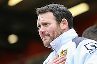 Darren Sarll (Manager) of Stevenage during the Sky Bet League 2 match between Stevenage and Northampton Town at the Lamex Stadium, Stevenage, England on 19 March 2016. Photo by David Horn / PRiME Media Images.