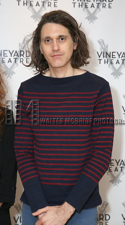 "Playwright Lucas Hnath during the cast photo call for the Vineyard Theatre Production of Dana H."" at the Vineyard Theatre Rehearsal Studios on February 4, 2020 in New York City."