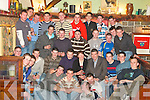 HAPPY BIRTHDAY: John O'Mahoney, Clouria, Lisselton (seated centre in the navy top), celebrated his 21st birthday in the Thatch bar on Sunday, December 23rd with family and friends.   Copyright Kerry's Eye 2008