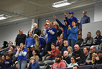 Rogers fans cheer during a basketball game, Friday, January 10, 2020 at Fayetteville High School in Fayetteville. Check out nwaonline.com/200111Daily/ for today's photo gallery.<br /> (NWA Democrat-Gazette/Charlie Kaijo)