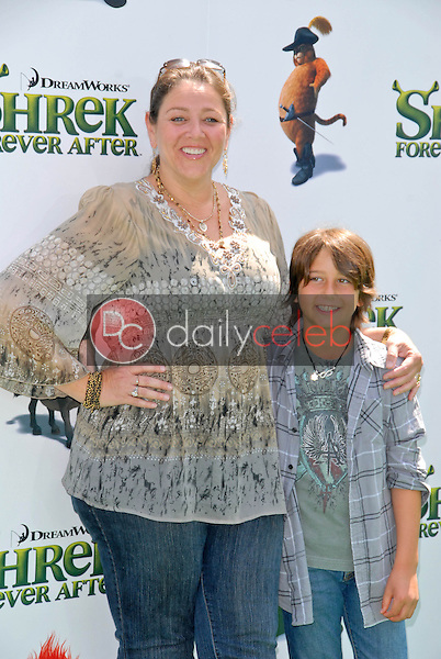 """Camryn Manheim and son Milo<br /> at the """"Shrek Forever After"""" Los Angeles Premiere, Gibson Amphitheater, Universal City, CA. 05-16-10<br /> David Edwards/DailyCeleb.com 818-249-4998"""