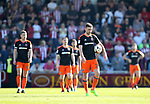 Sheffield United's Jay O'Shea looks on dejected after Northampton's opening goal during the League One match at the Sixfields Stadium, Northampton. Picture date: April 8th, 2017. Pic David Klein/Sportimage