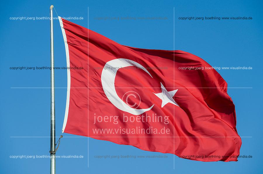 Tuerkey, turkisch flag blowing in the wind