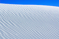 Gypsum sand dune at White Sands National Monument in New Mexico.