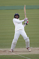 Haseeb Hameed of Lancashire CCC tries without success  to put a short ball from Finn over the infield during Middlesex CCC vs Lancashire CCC, Specsavers County Championship Division 2 Cricket at Lord's Cricket Ground on 12th April 2019