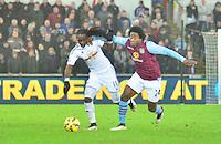 swansea...sport..swansea v aston villa...friday 26th december 2014...<br /> <br /> <br /> <br /> Swansea's Bafetimbi Gomis on the ball