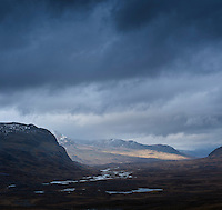 View north of Alisvaggi valley from near Tjaktja hut, Kungsleden trail, Lapland, Sweden