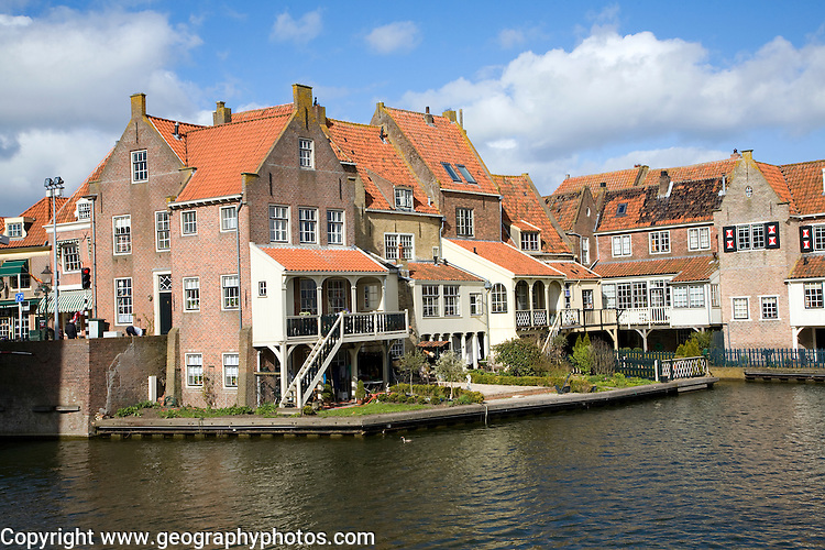 Attractive historic waterside building, Enkhuizen, Netherlands